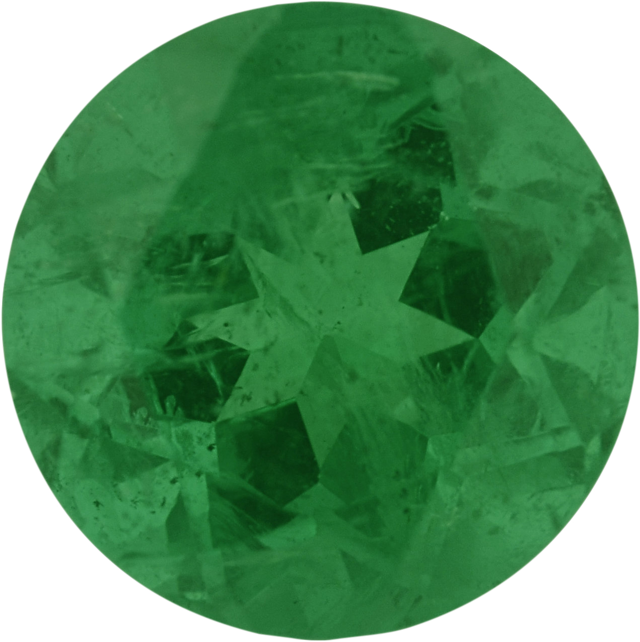 0.89 carats Emerald Loose Gemstone in Round Cut, 6.06 mm