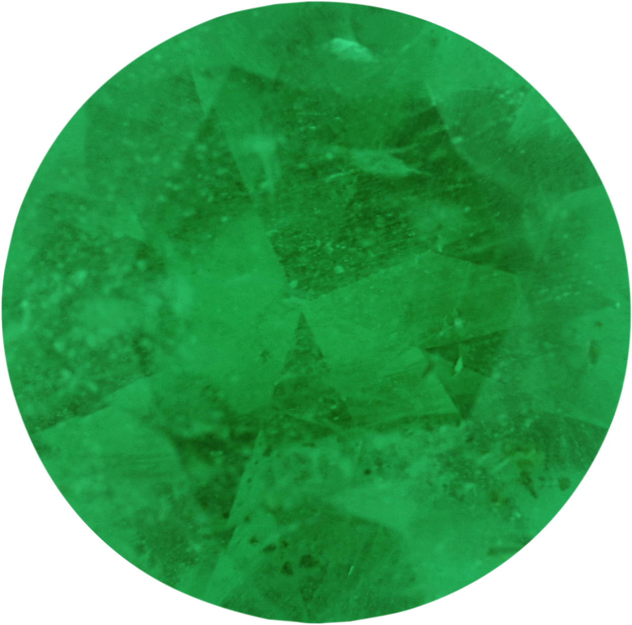 0.56 carats Emerald Loose Gemstone in Round Cut, 5.97 mm