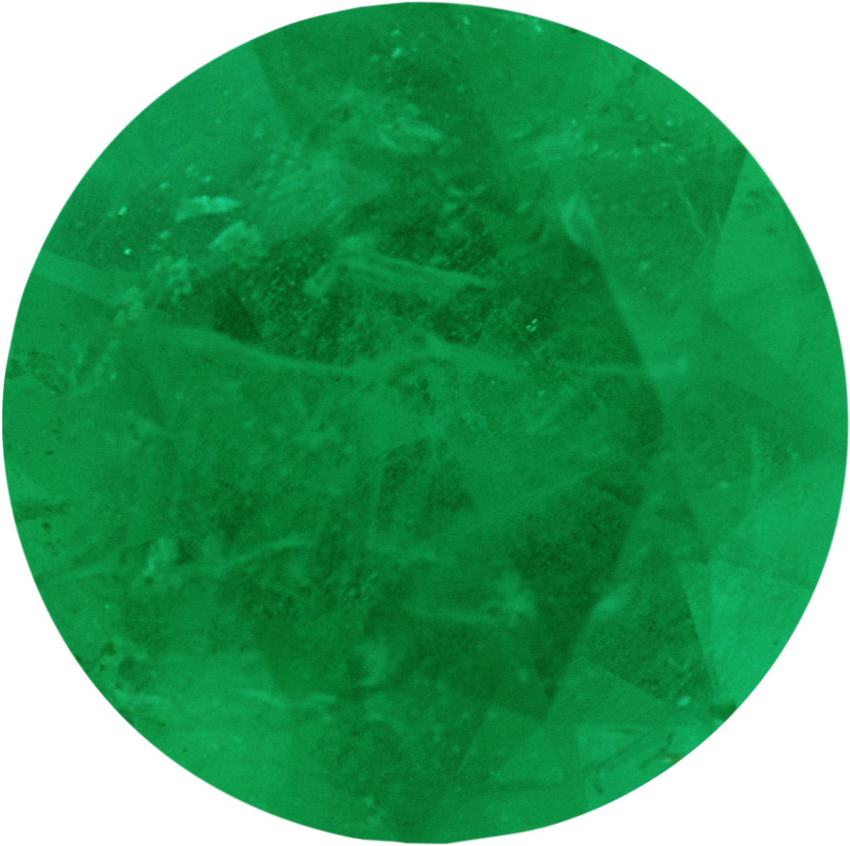 0.64 carats Emerald Loose Gemstone in Round Cut, 5.98 mm