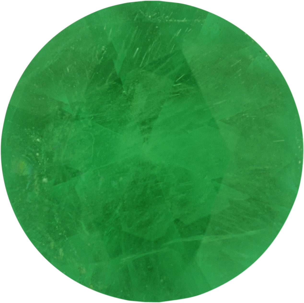 6.04 mm, Round Cut Genuine Emerald Gem, 0.57 carats