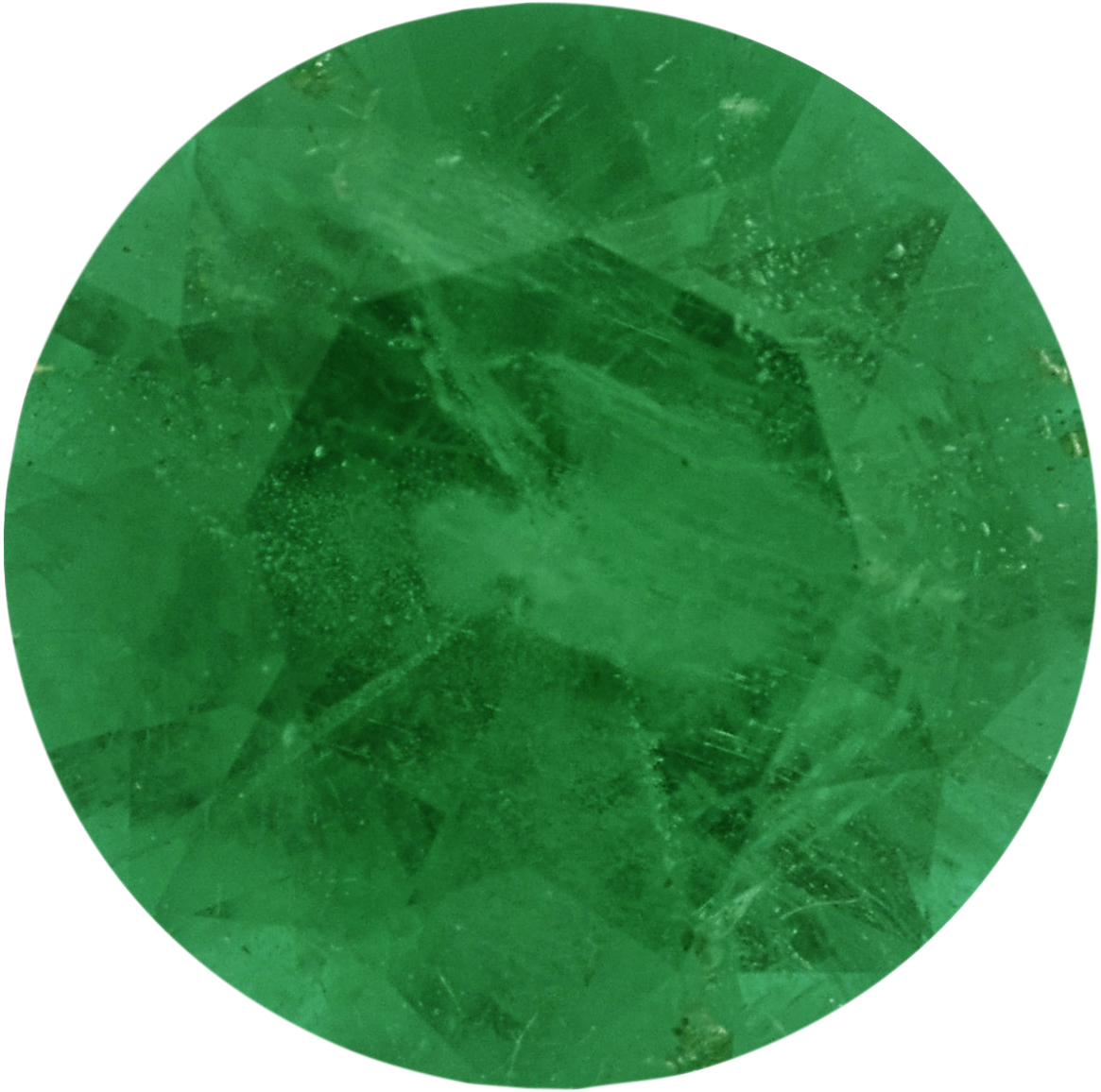 0.63 carats Emerald Loose Gemstone in Round Cut, 5.95 mm
