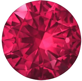Round Genuine Swarovski Rich Ruby in Grade AAA Precision Cut