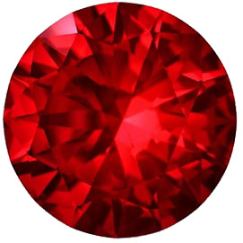 Round Genuine Swarovski Top Gem Vivid Red Ruby Precision Cut