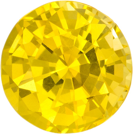 Round Cut Yellow Sapphire - Loose Yellow Round Shape ...