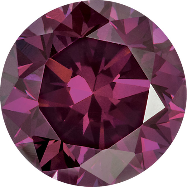 Round Purple Enhanced Diamonds Genuine