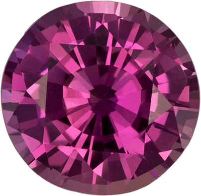 Round Rosey Pink Sapphire Gem in Round Cut, No Heat - GIA Certified, 7.14 x 6.98 x 4.27 mm, 1.61 carats