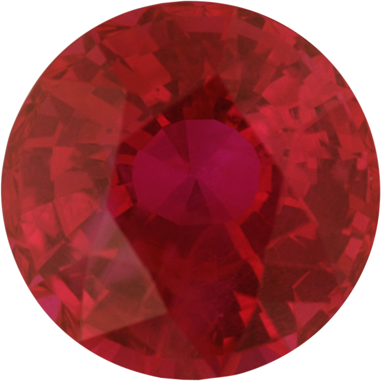 6.06 mm, Ruby Loose Gemstone in Round Cut, 1.09 carats