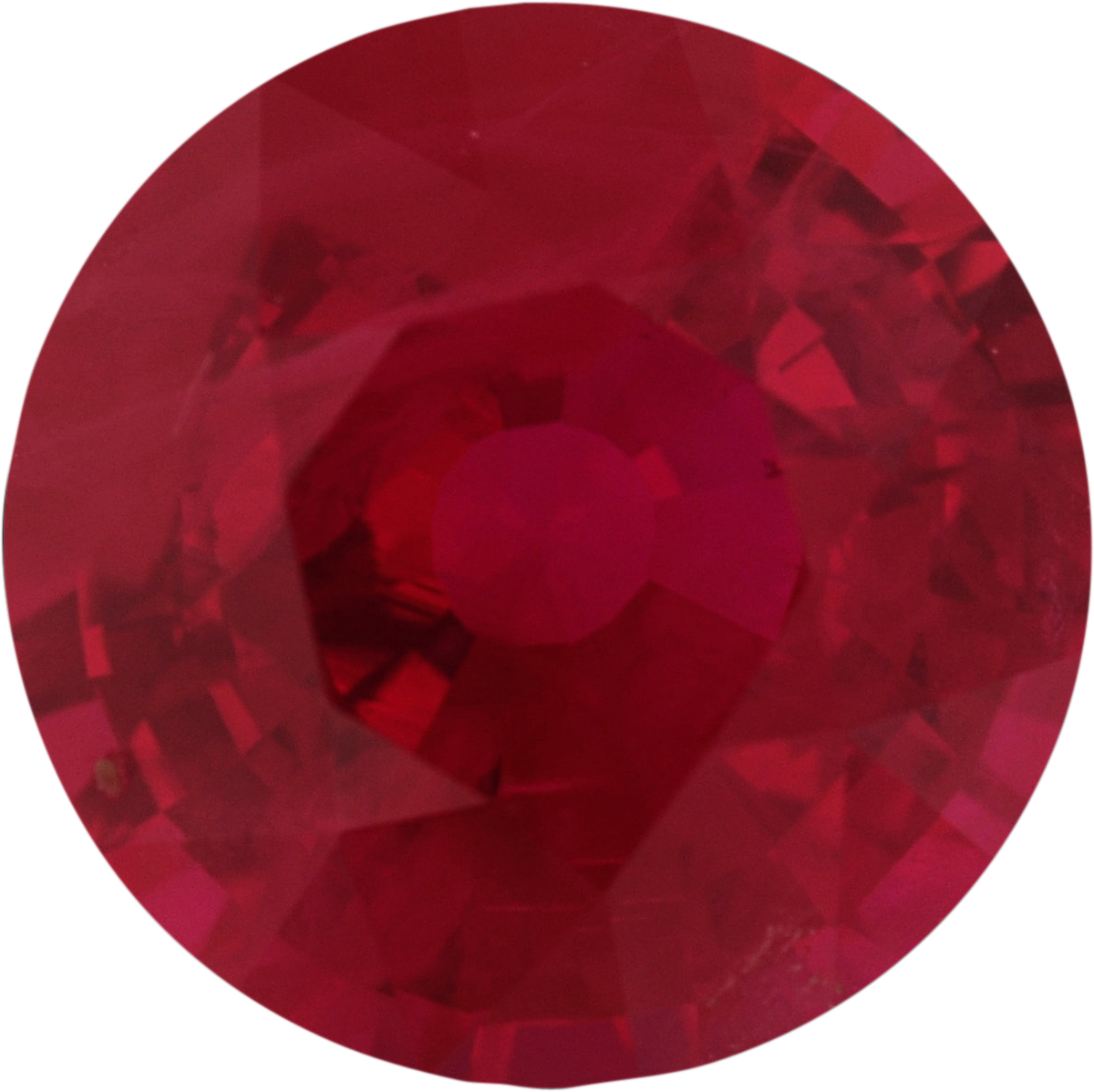6.06 mm, Ruby Loose Gemstone in Round Cut, 1.02 carats