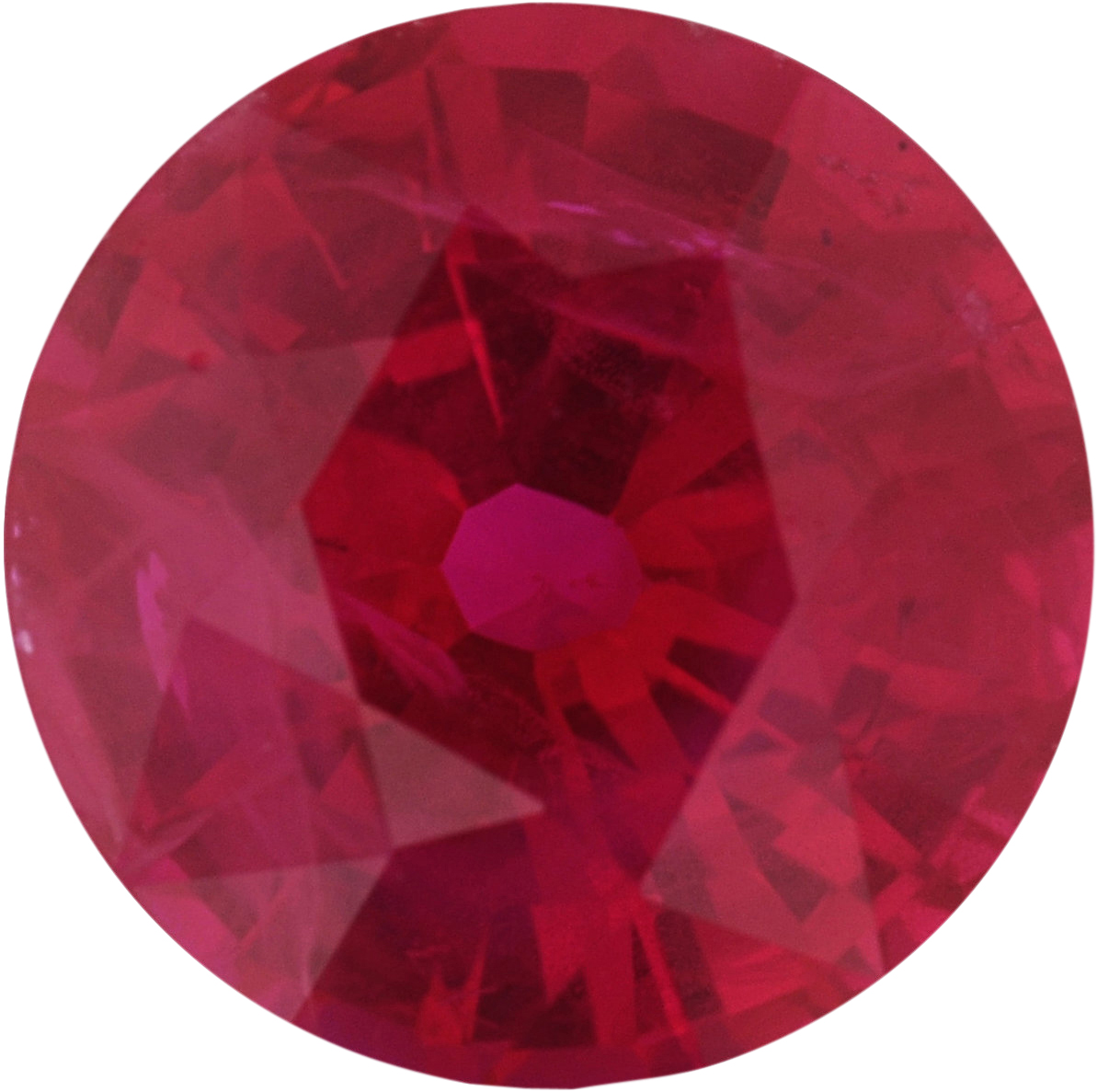 6.19 mm, Ruby Loose Gemstone in Round Cut, 1.11 carats