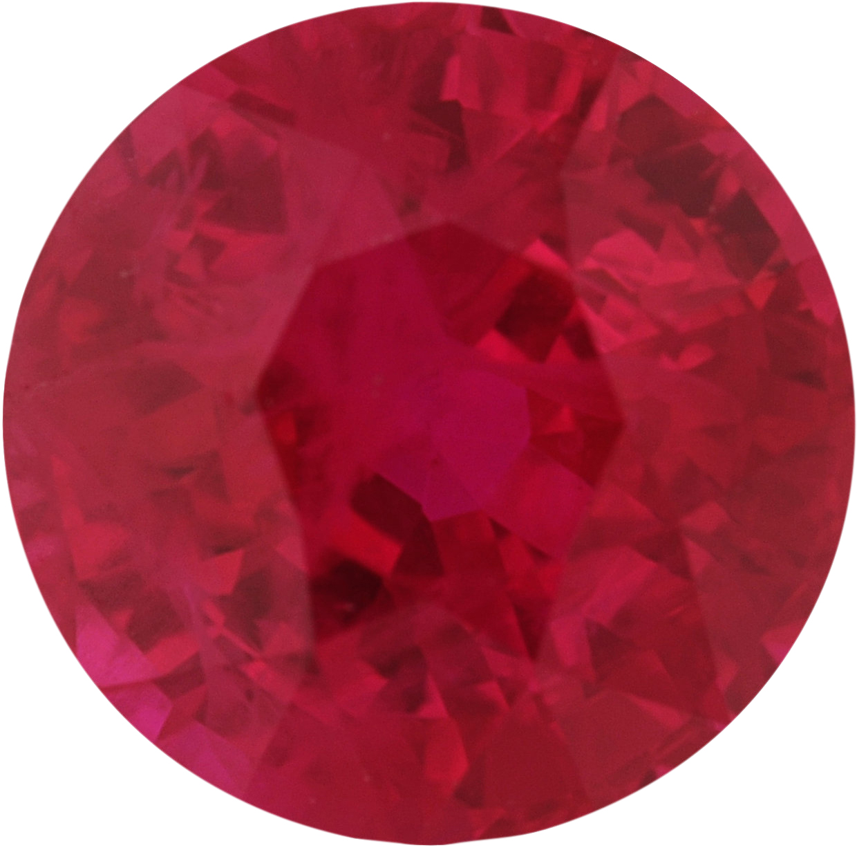 6.44 mm, Ruby Loose Gemstone in Round Cut, 1.56 carats