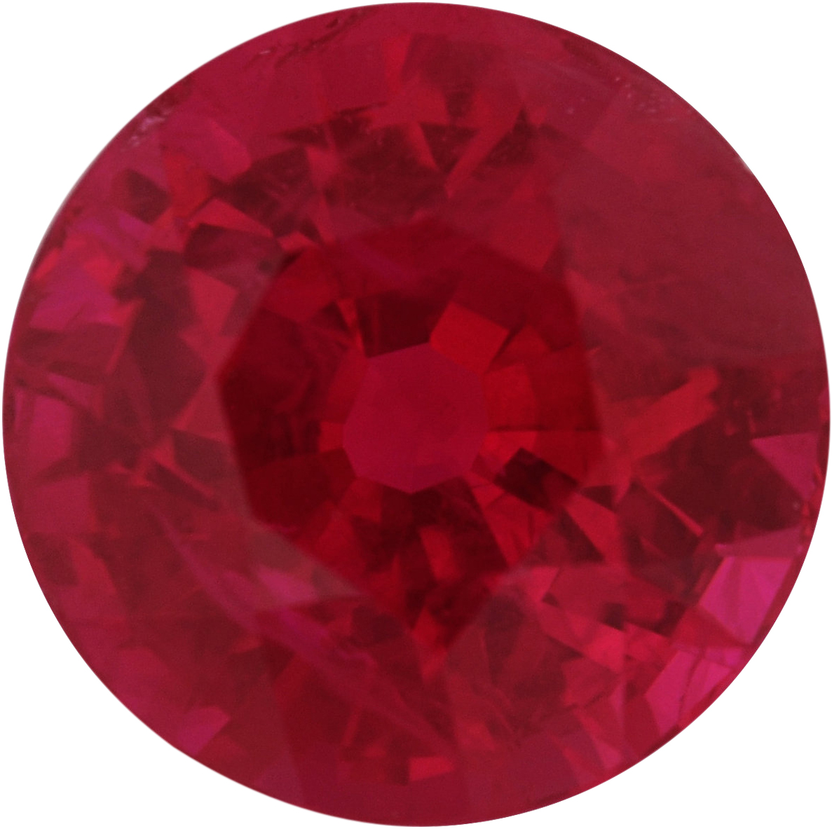 6.15 mm, Ruby Loose Gemstone in Round Cut, 1.27 carats