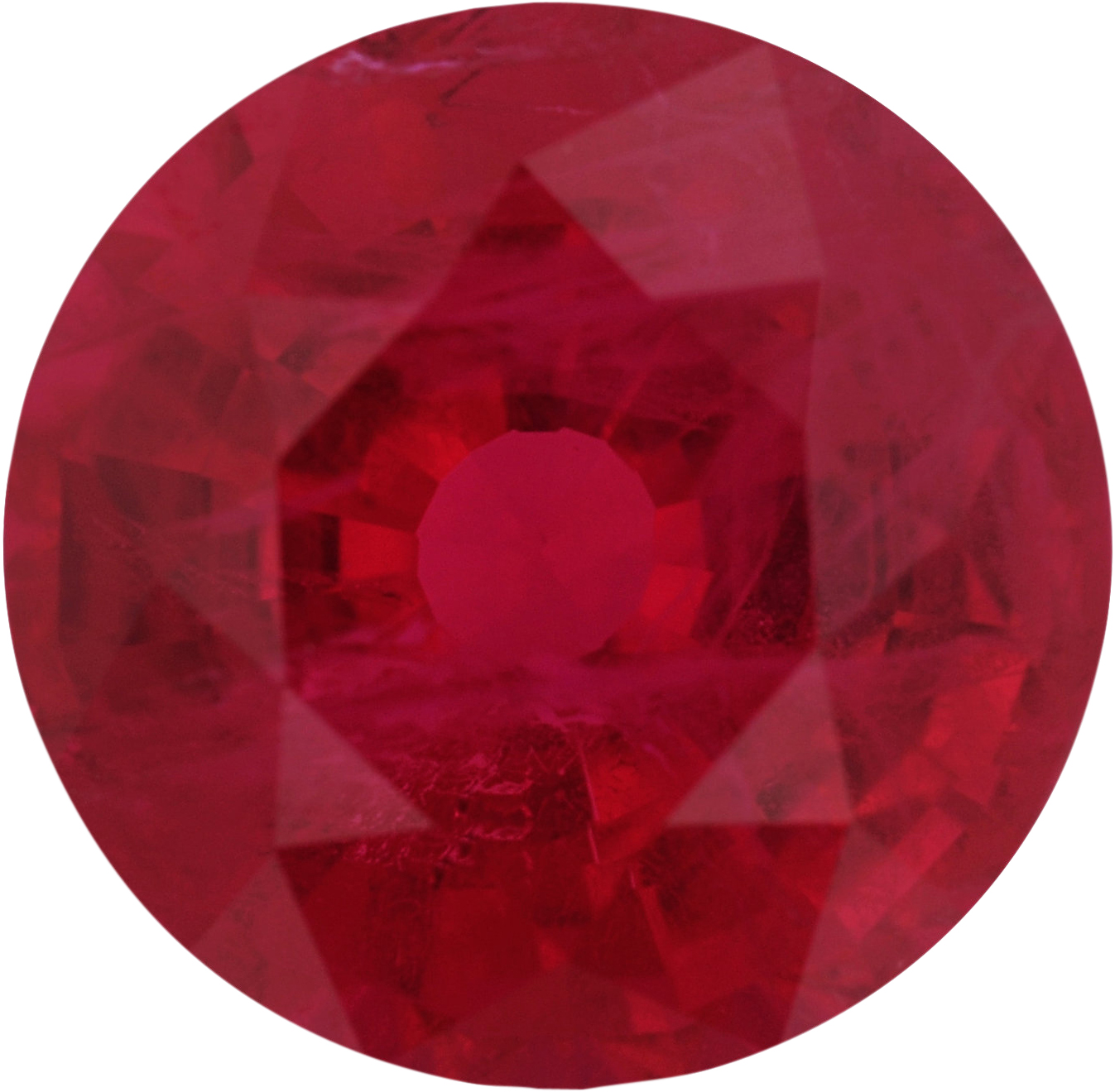 6.61 mm, Ruby Loose Gemstone in Round Cut, 1.39 carats