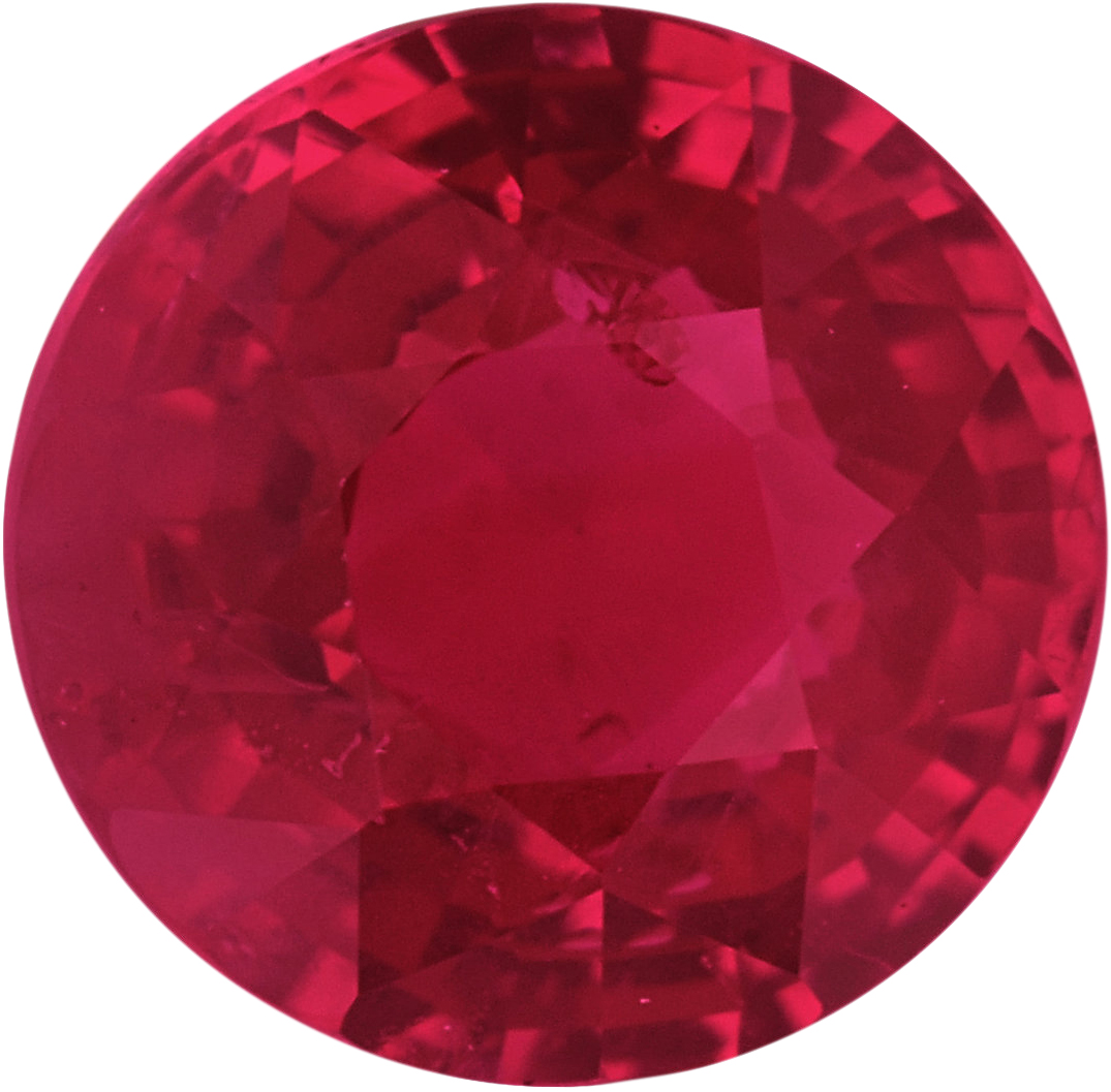 5.67 mm, Ruby Loose Gemstone in Round Cut, 1.03 carats