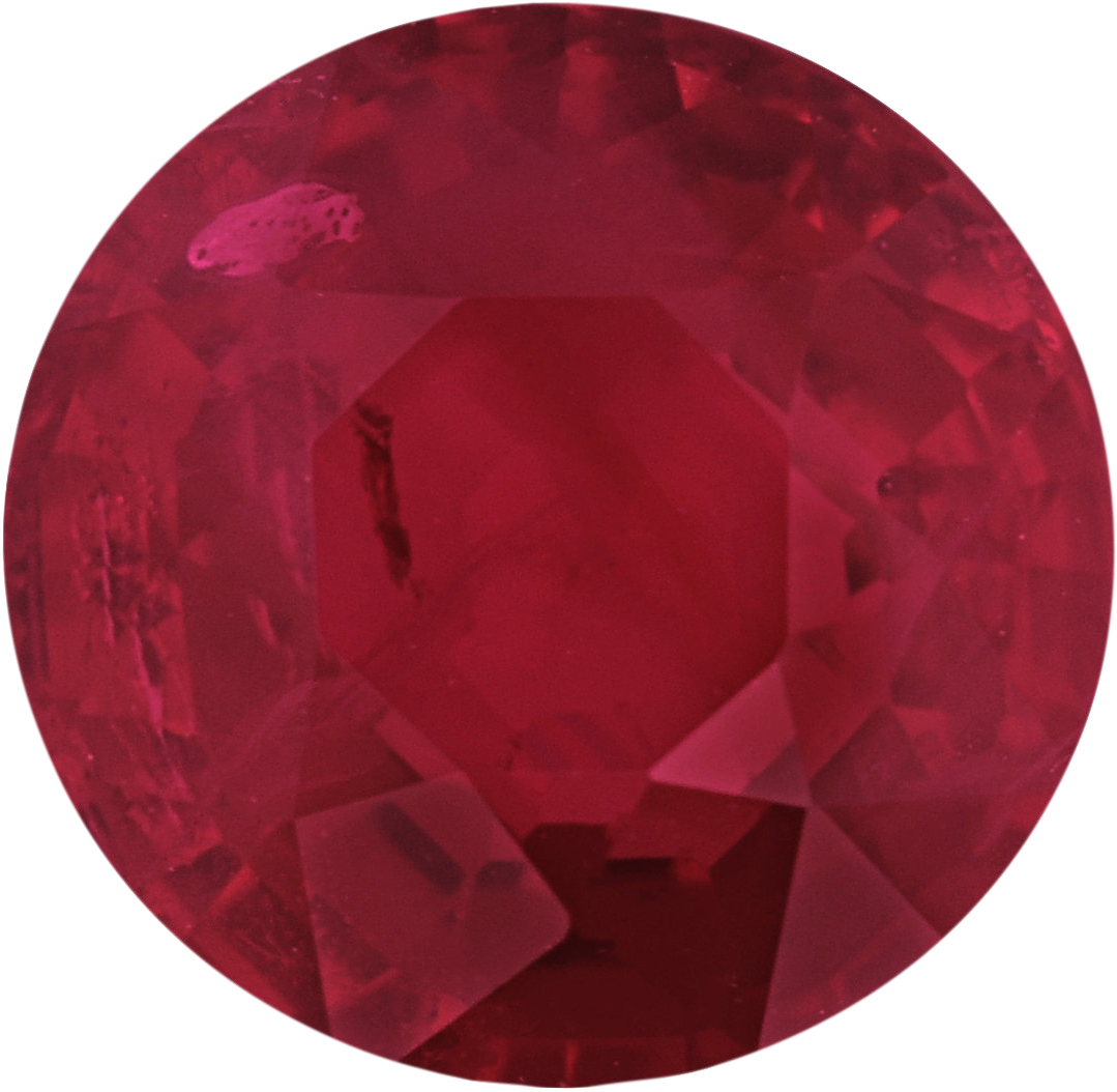 5.74 mm, Ruby Loose Gemstone in Round Cut, 1.05 carats