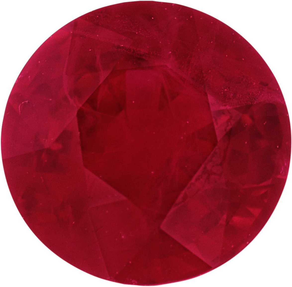 6 mm, Ruby Loose Gemstone in Round Cut, 1.1 carats