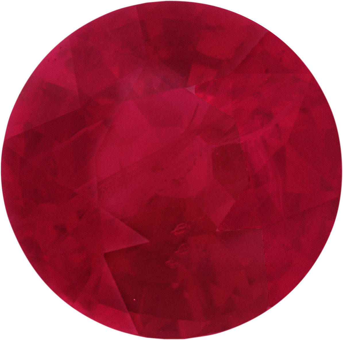 6.13 mm, Ruby Loose Gemstone in Round Cut, 1.1 carats