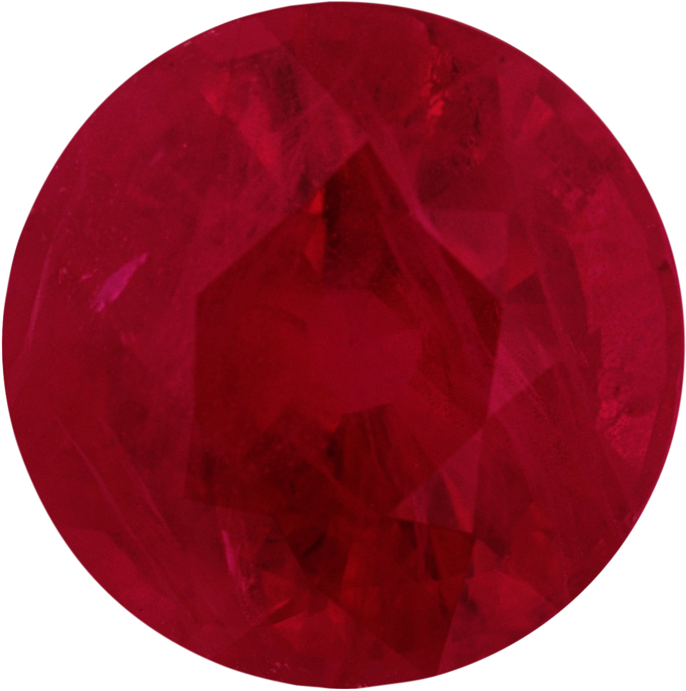 6.98 mm, Ruby Loose Gemstone in Round Cut, 1.65 carats