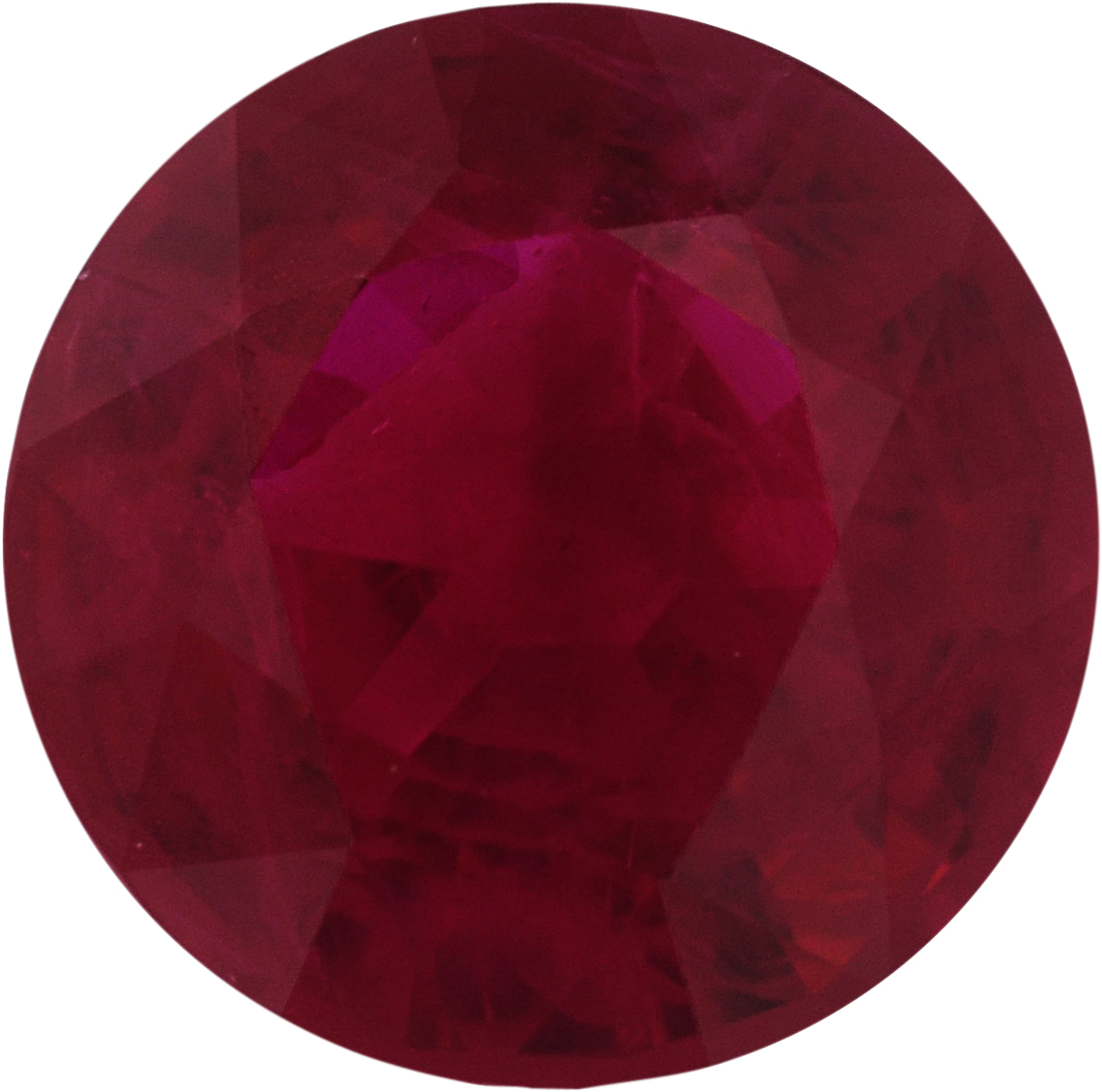 6.08 mm, Ruby Loose Gemstone in Round Cut, 1.08 carats