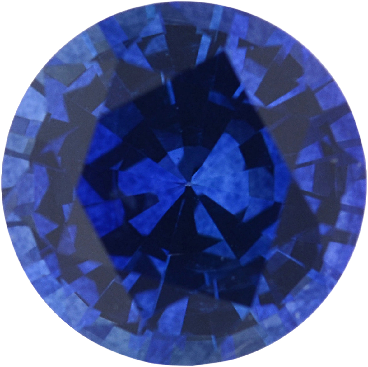 0.87 carats Blue Loose Sapphire Gemstone in Round Cut, 5.79 mm