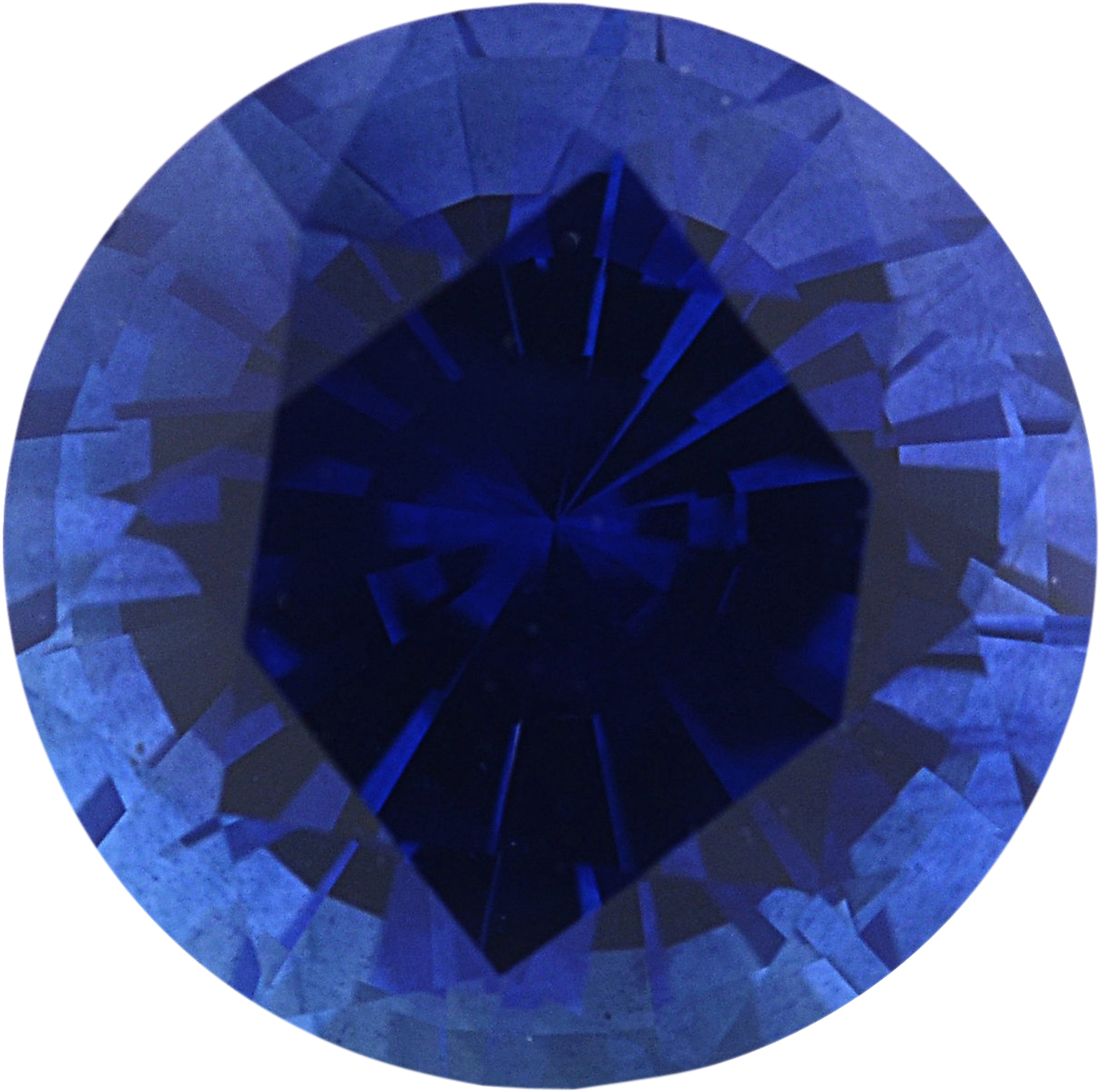1.06 carats Blue Loose Sapphire Gemstone in Round Cut, 5.97 mm