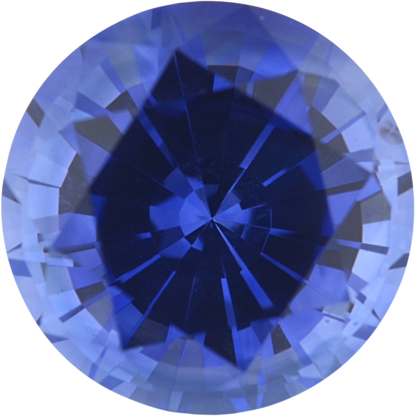 1.51 carats Blue Loose Sapphire Gemstone in Round Cut, 6.75 mm