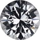 1.56 carats White Loose Sapphire Gemstone in Round Cut, 7.01 mm