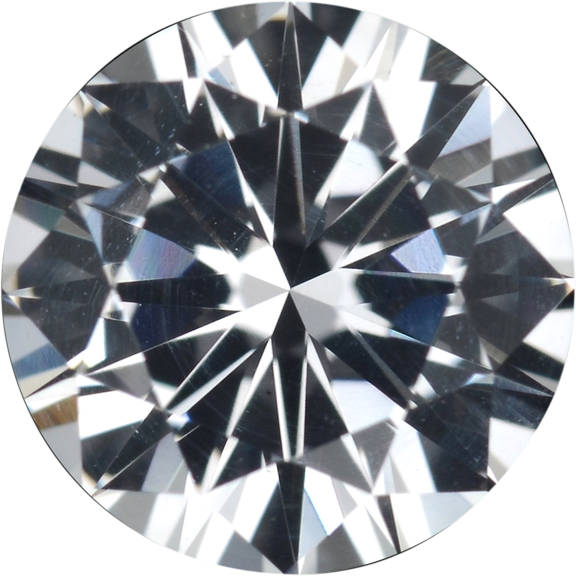 1.18 carats White Loose Sapphire Gemstone in Round Cut, 6.47 mm