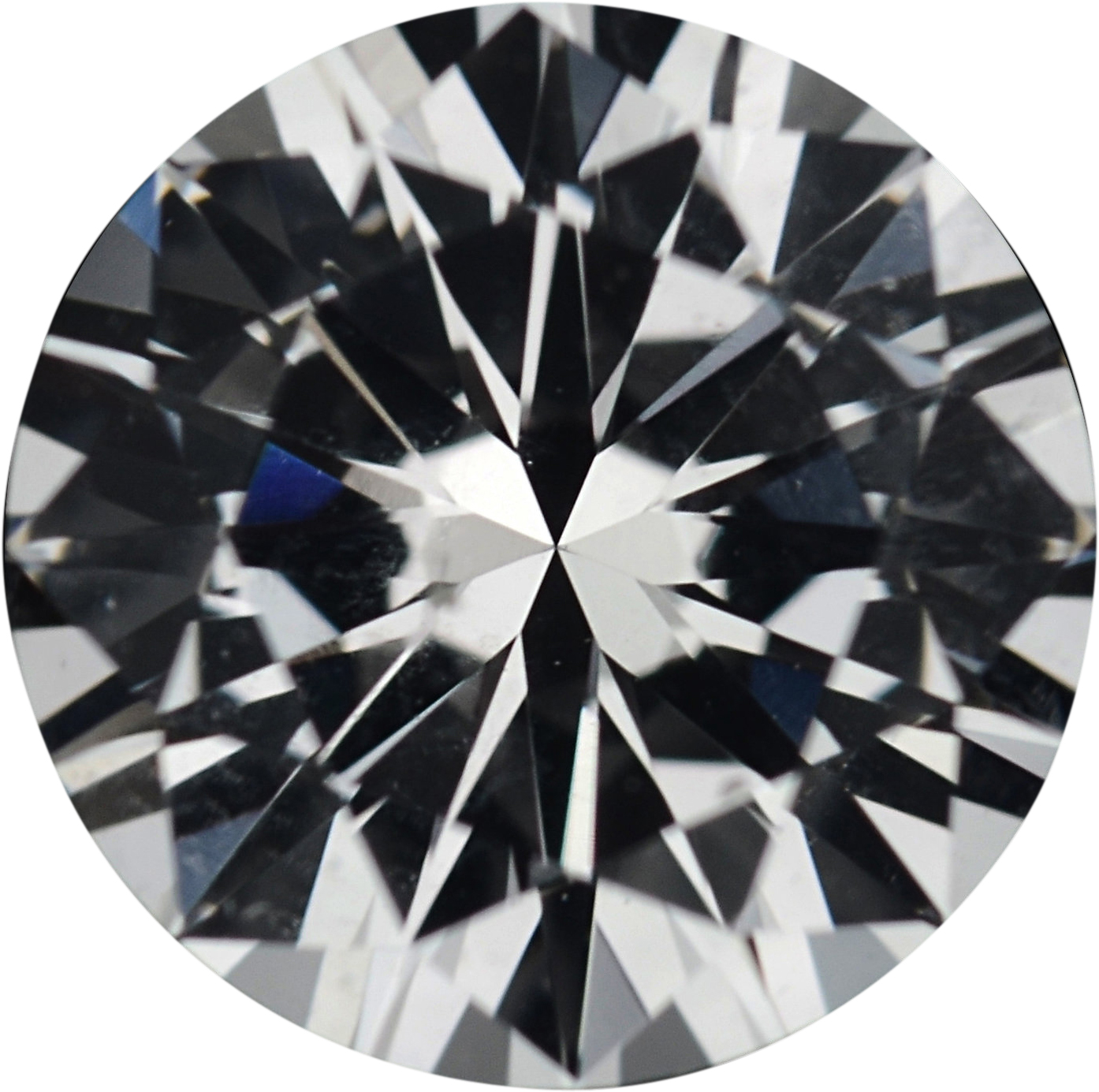 1.3 carats White Loose Sapphire Gemstone in Round Cut, 6.7 mm