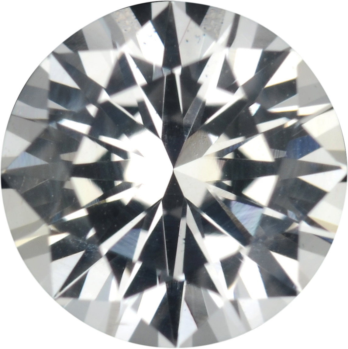 1.16 carats White Loose Sapphire Gemstone in Round Cut, 6.41 mm