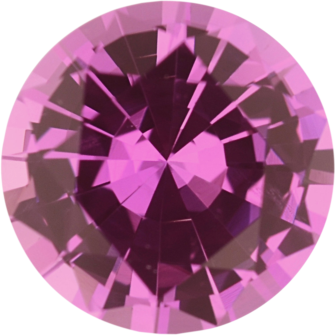 0.81 carats Pink Loose Sapphire Gemstone in Round Cut, 5.87 mm