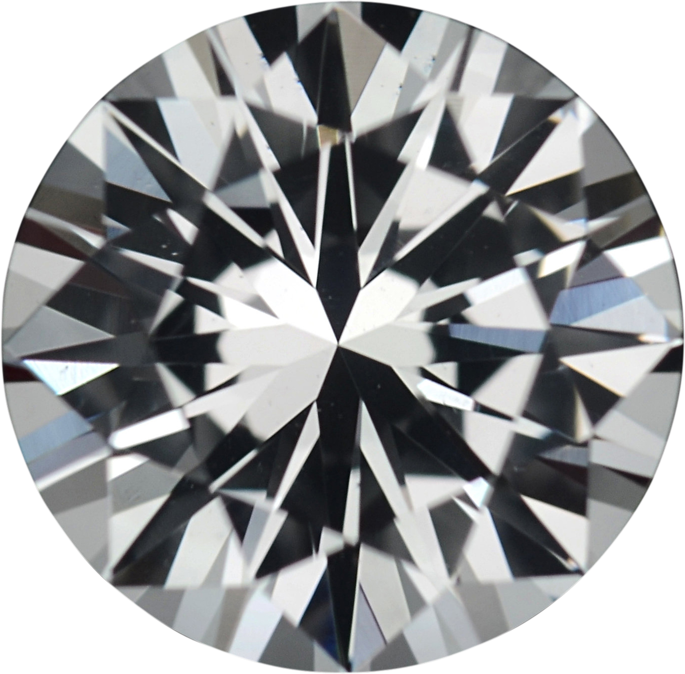 1.42 carats White Loose Sapphire Gemstone in Round Cut, 6.92 mm