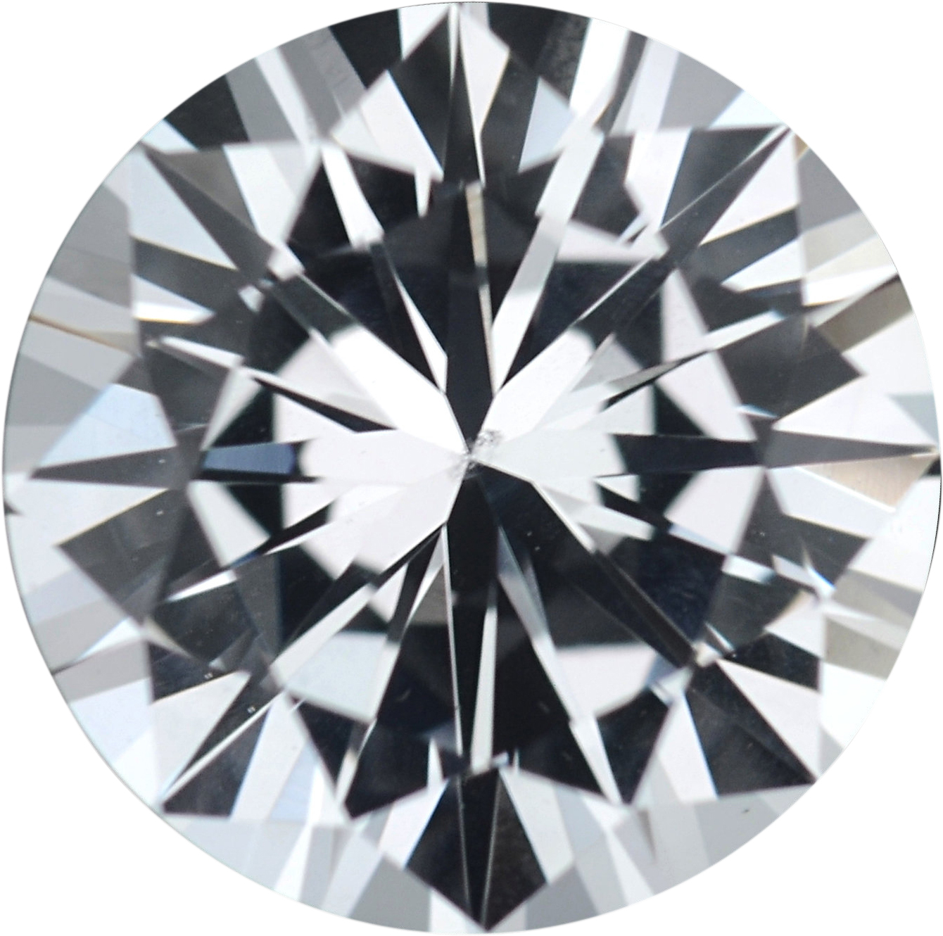 1.41 carats White Loose Sapphire Gemstone in Round Cut, 6.86 mm