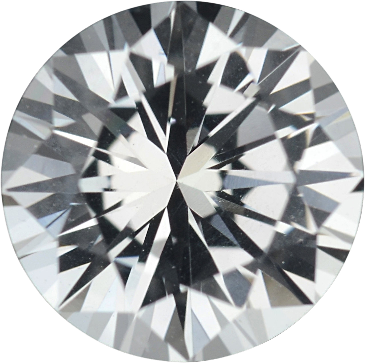 1.27 carats White Loose Sapphire Gemstone in Round Cut, 6.51 mm