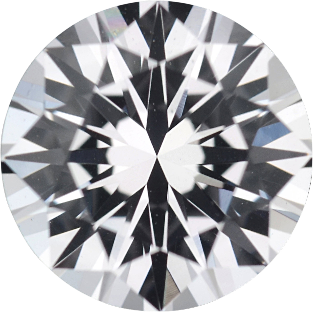 1.35 carats White Loose Sapphire Gemstone in Round Cut, 6.72 mm