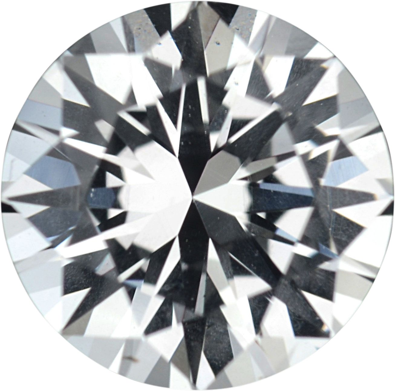 1.27 carats White Loose Sapphire Gemstone in Round Cut, 6.69 mm