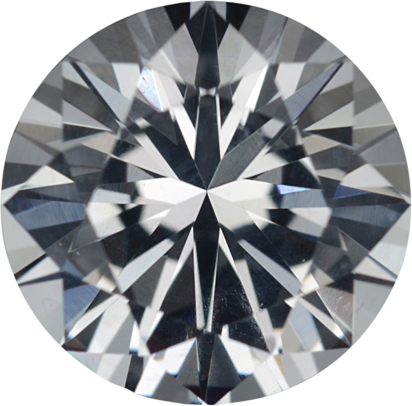1.36 carats White Loose Sapphire Gemstone in Round Cut, 6.77 mm