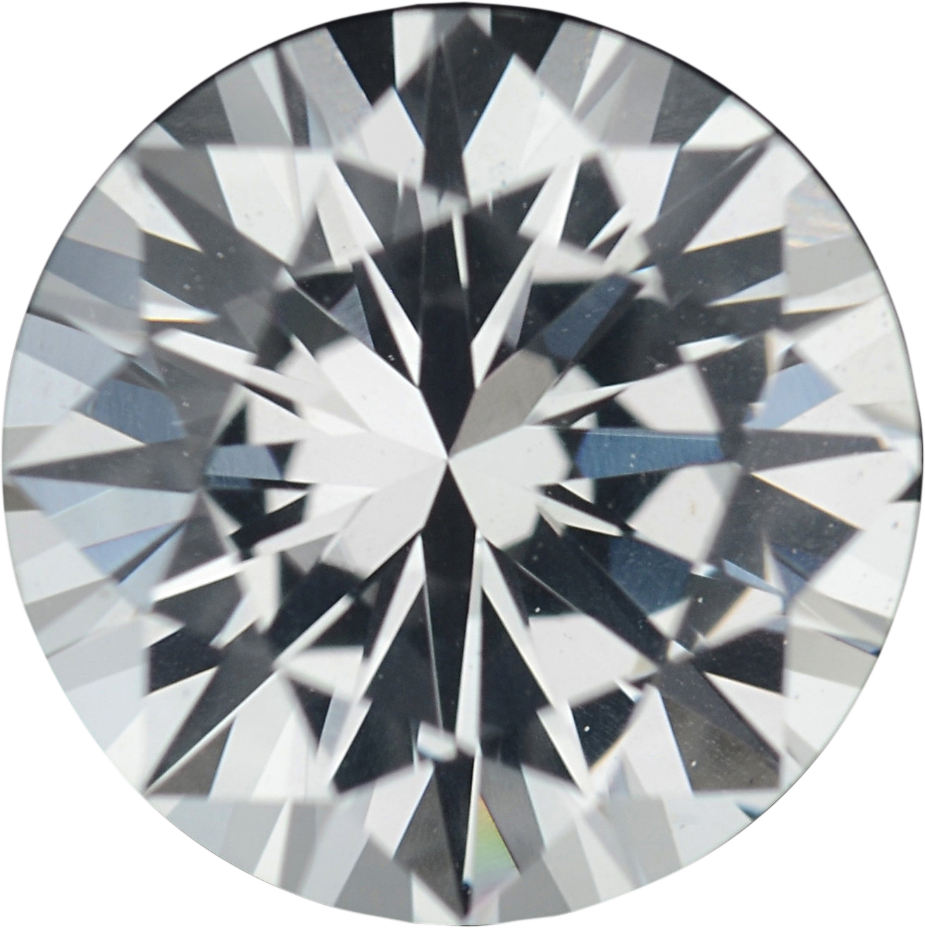 1.37 carats White Loose Sapphire Gemstone in Round Cut, 6.73 mm