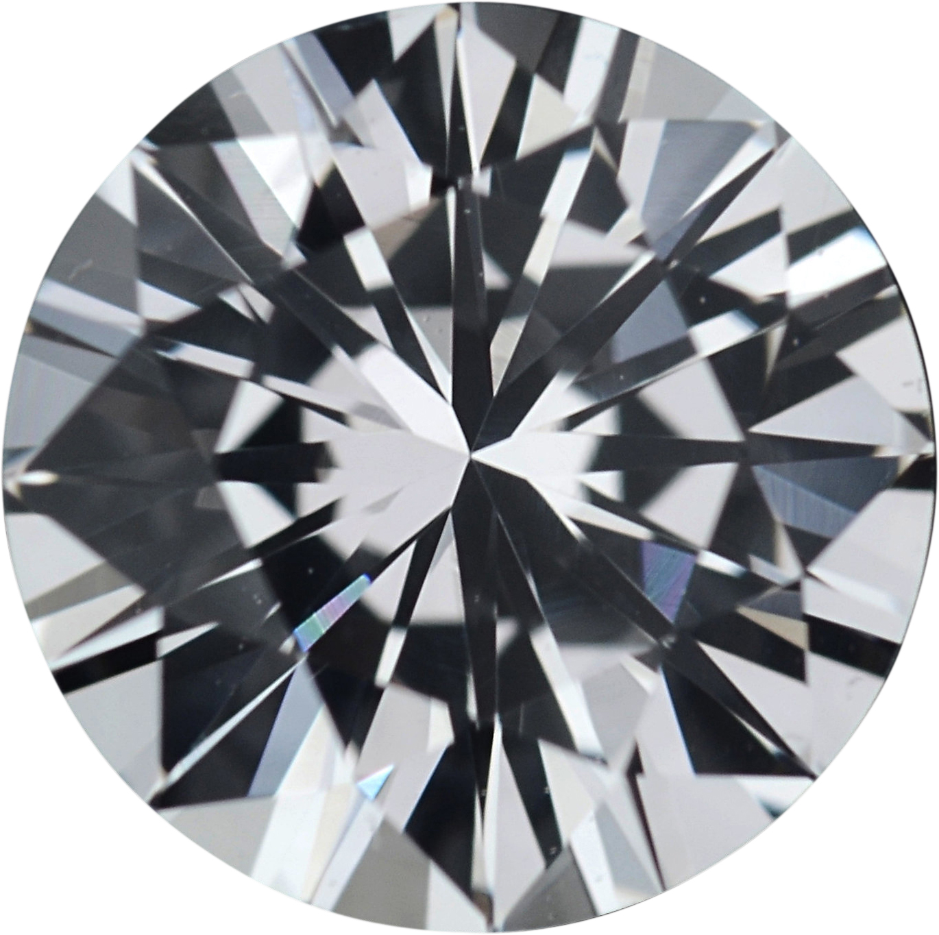 1.45 carats White Loose Sapphire Gemstone in Round Cut, 6.97 mm