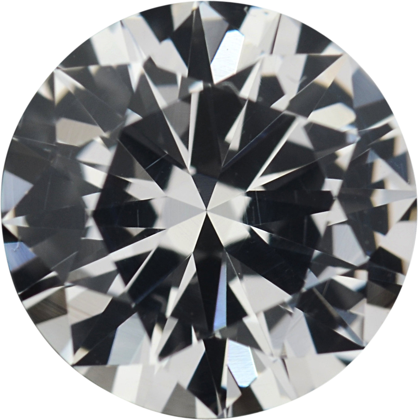 1.47 carats White Loose Sapphire Gemstone in Round Cut, 7.04 mm