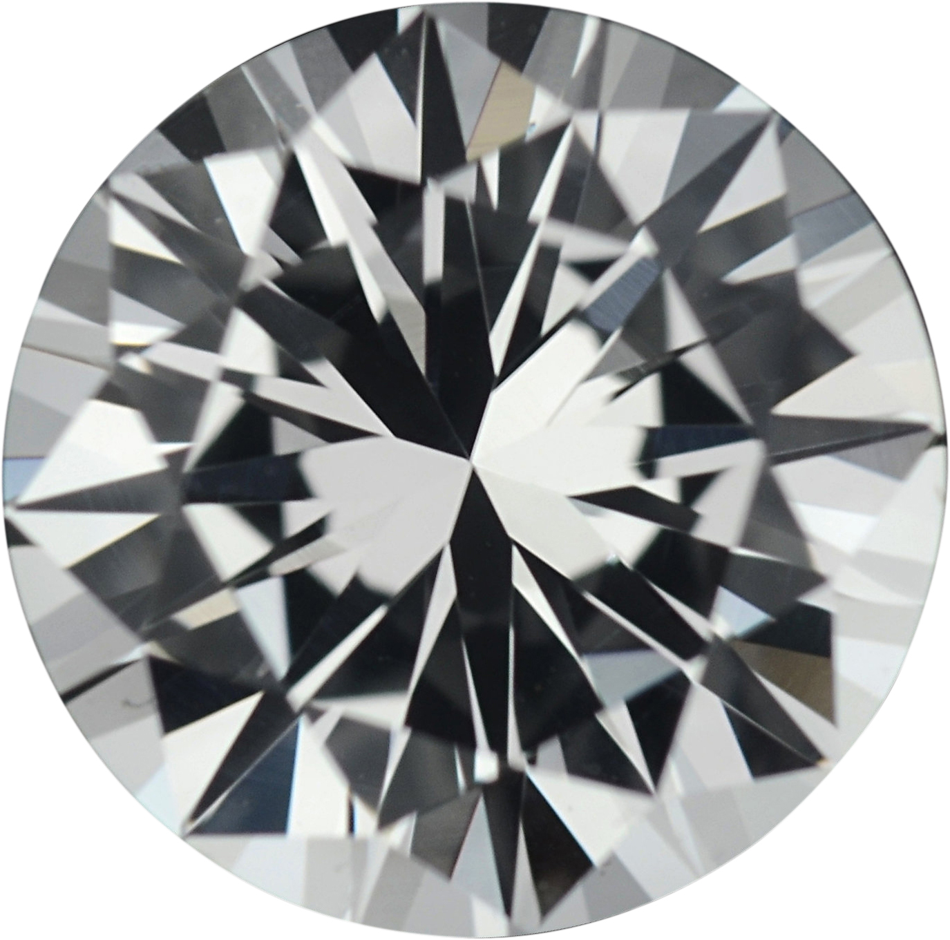 1.48 carats White Loose Sapphire Gemstone in Round Cut, 7 mm