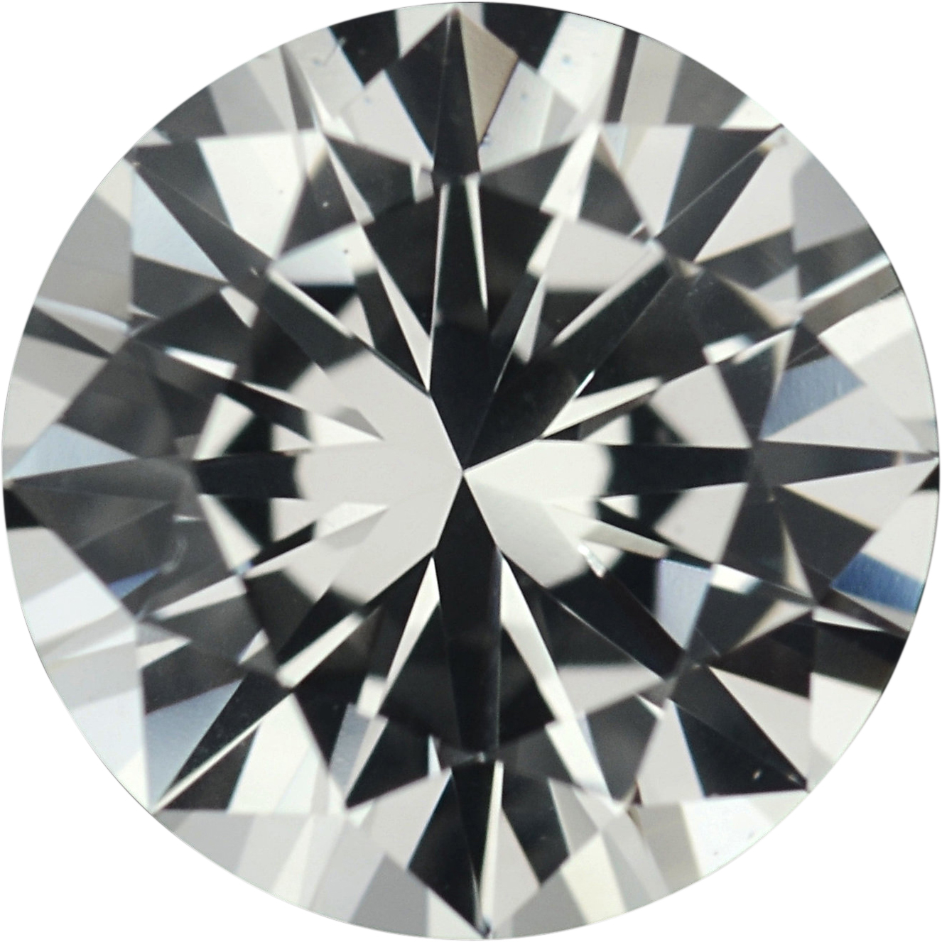 1.3 carats White Loose Sapphire Gemstone in Round Cut, 6.77 mm
