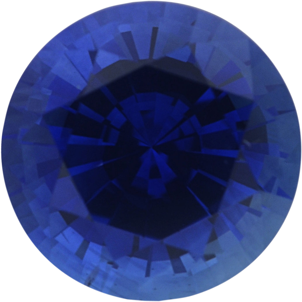 0.96 carats Blue Loose Sapphire Gemstone in Round Cut, 5.8 mm