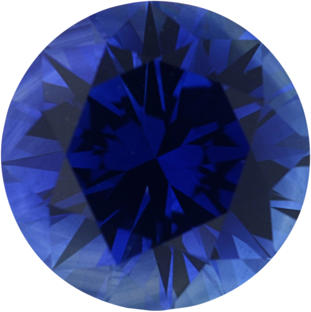 0.95 carats Blue Loose Sapphire Gemstone in Round Cut, 5.93 mm