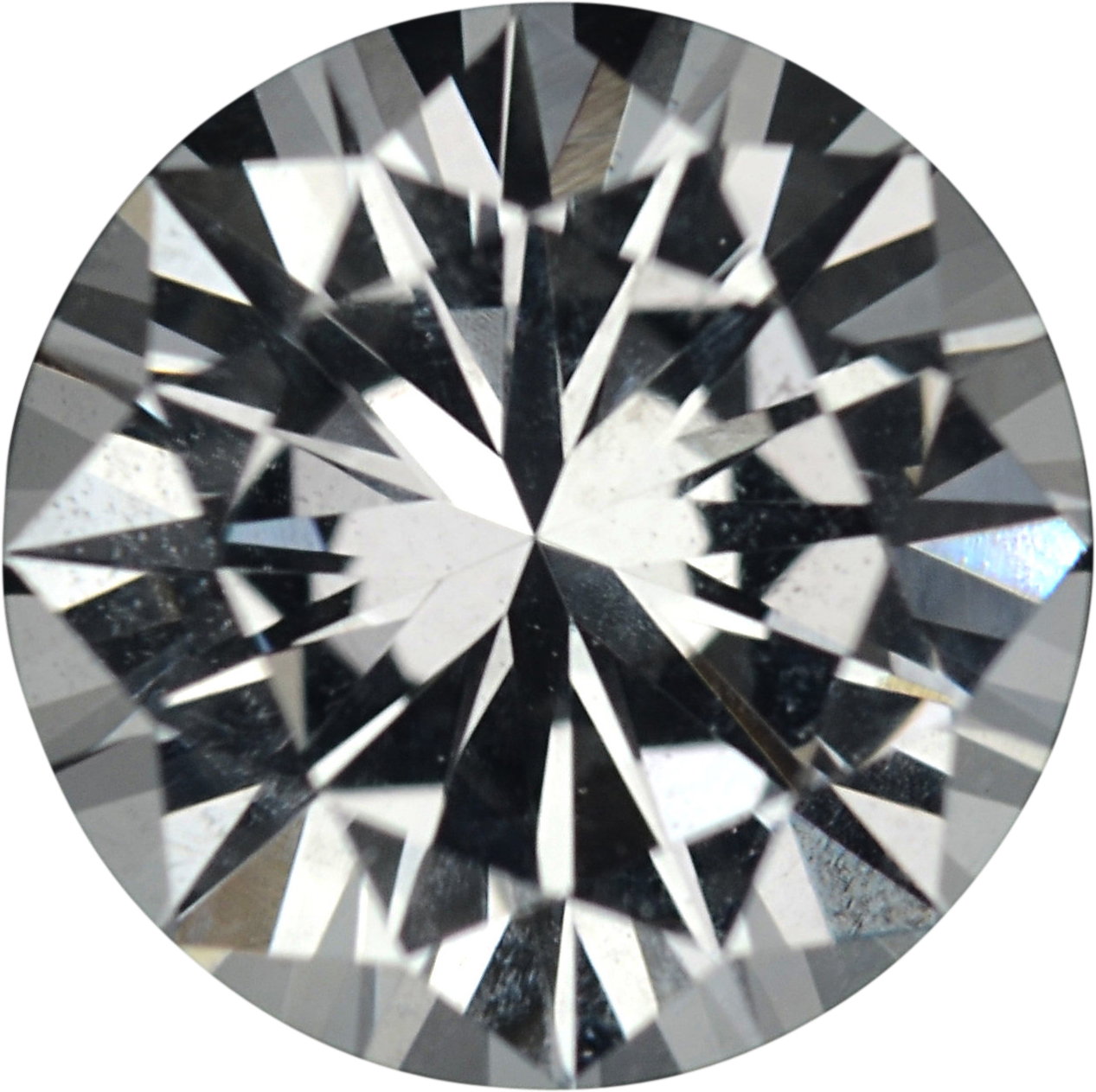 1.23 carats White Loose Sapphire Gemstone in Round Cut, 6.52 mm