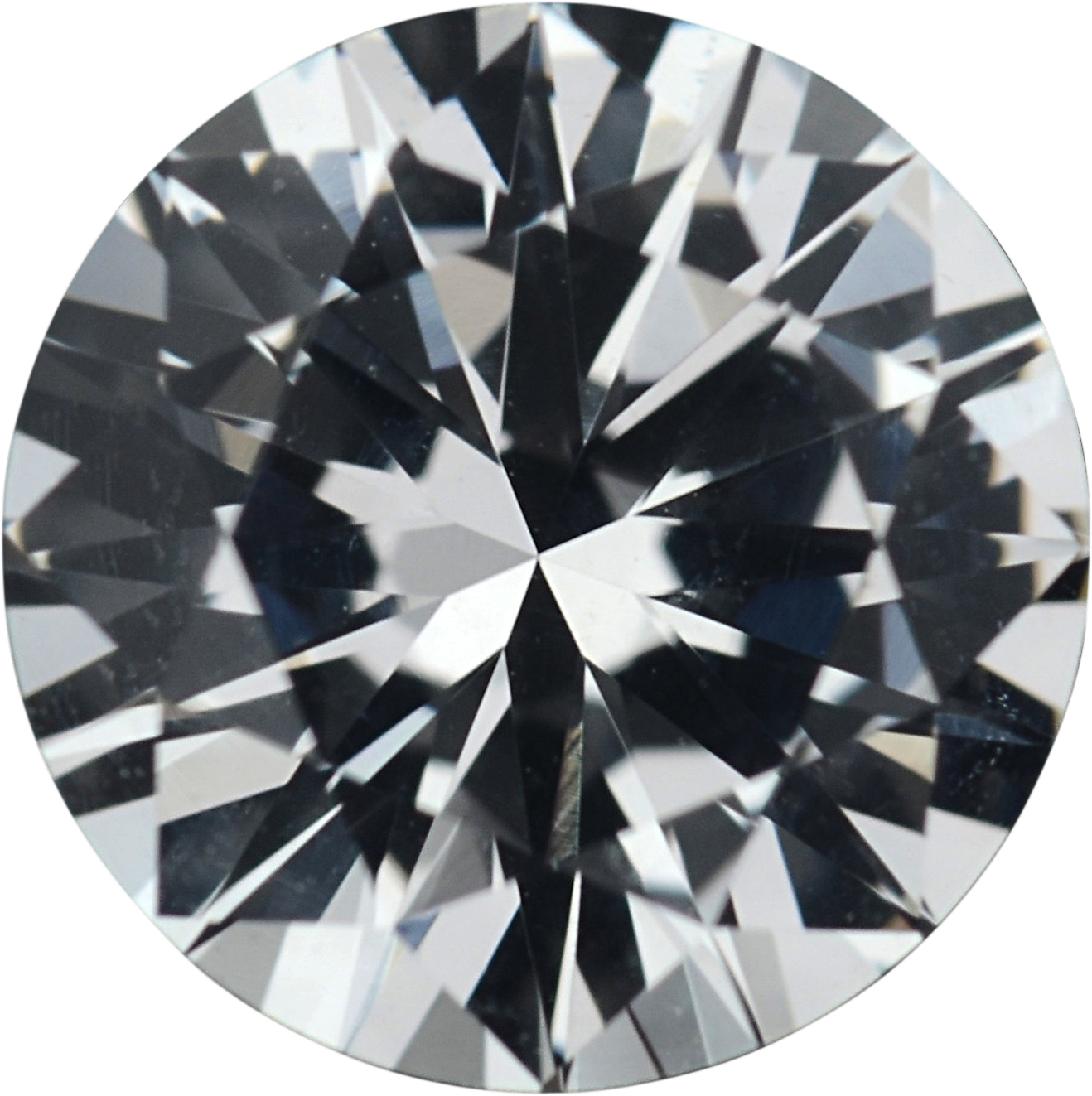 1.31 carats White Loose Sapphire Gemstone in Round Cut, 6.75 mm
