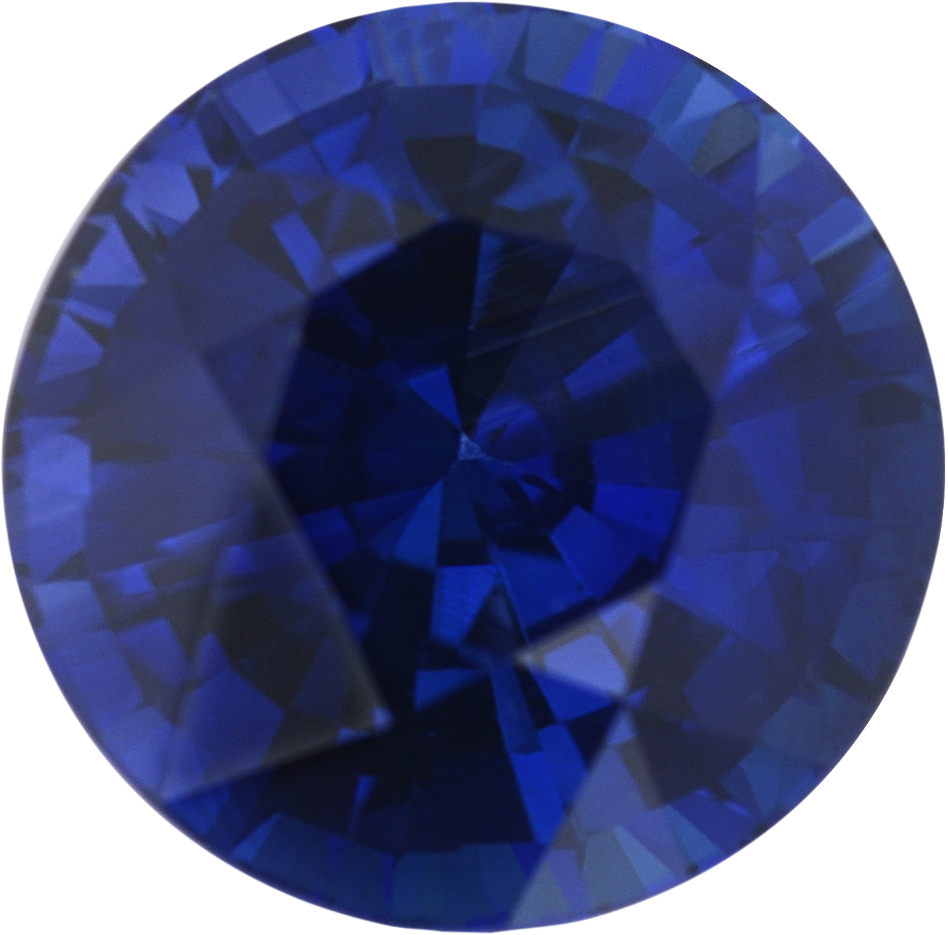 1.67 carats Blue Loose Sapphire Gemstone in Round Cut, 6.91 mm