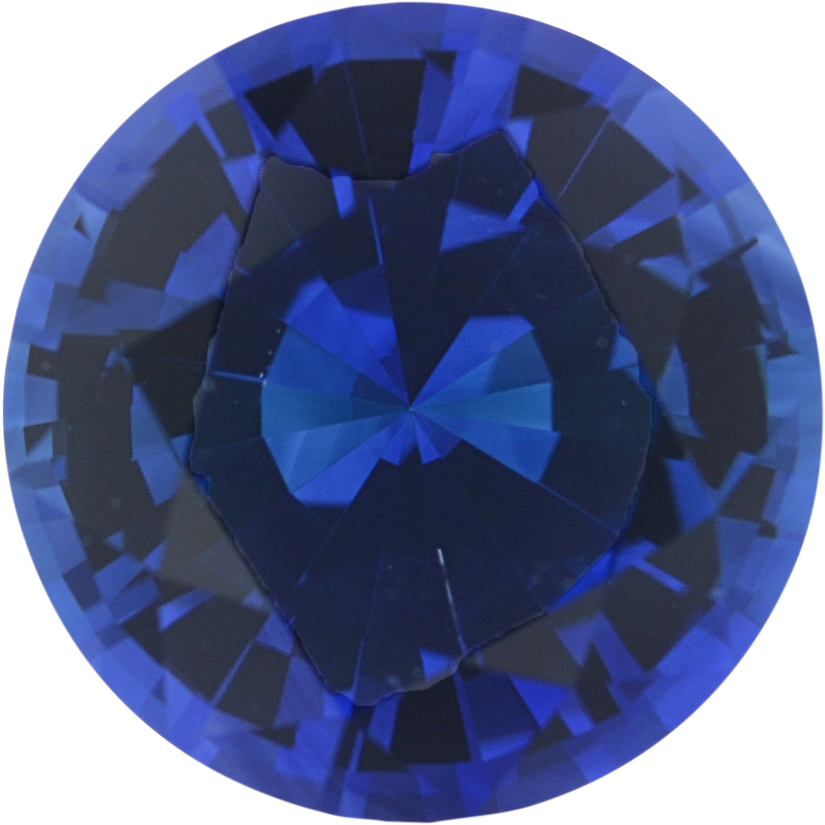0.93 carats Blue Loose Sapphire Gemstone in Round Cut, 5.94 mm