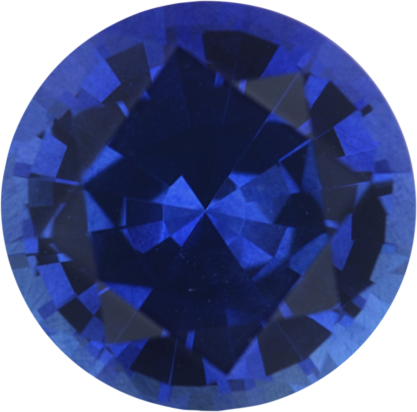 1.46 carats Blue Loose Sapphire Gemstone in Round Cut, 6.91 mm
