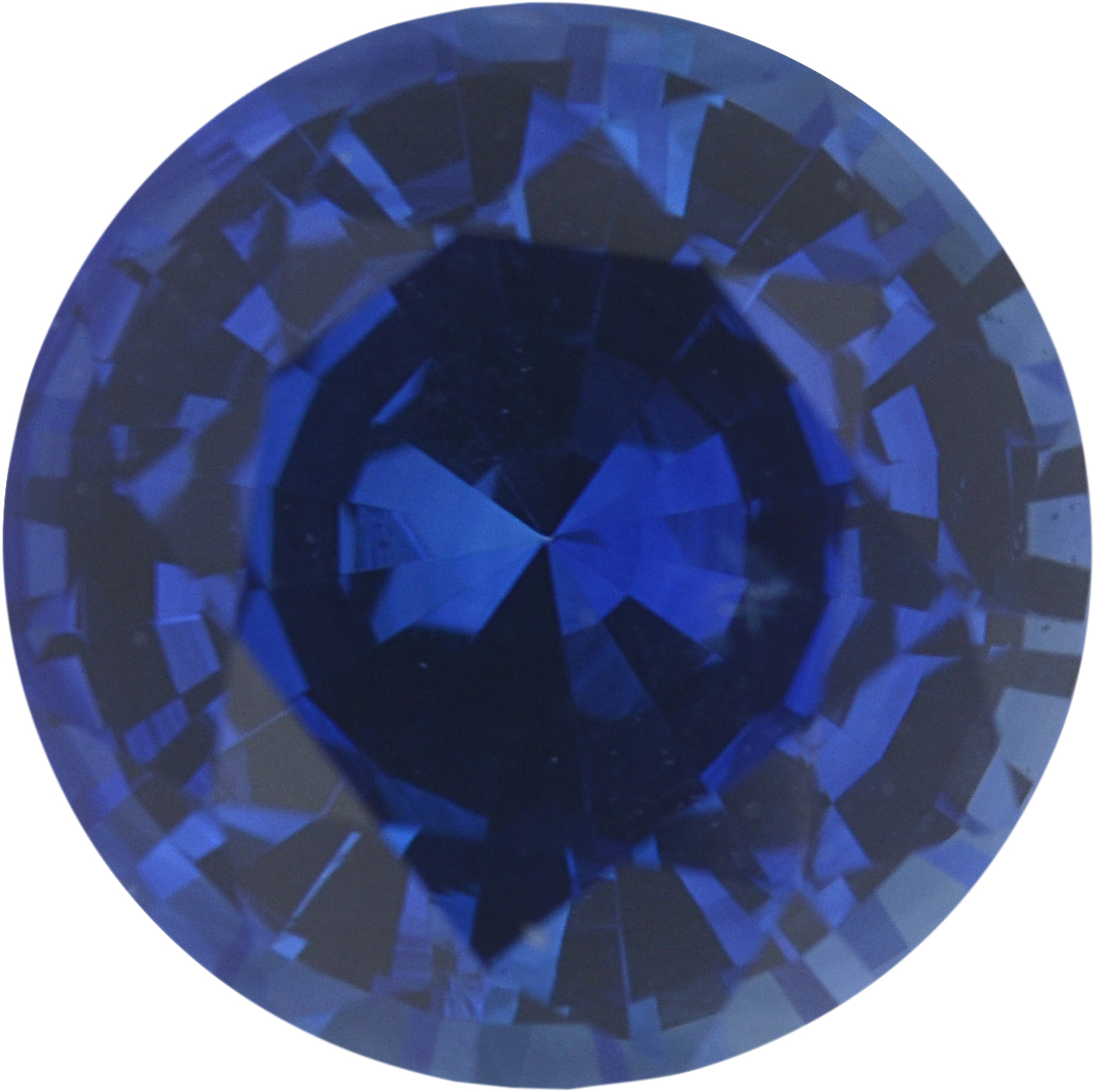 1.09 carats Blue Loose Sapphire Gemstone in Round Cut, 6.29 mm