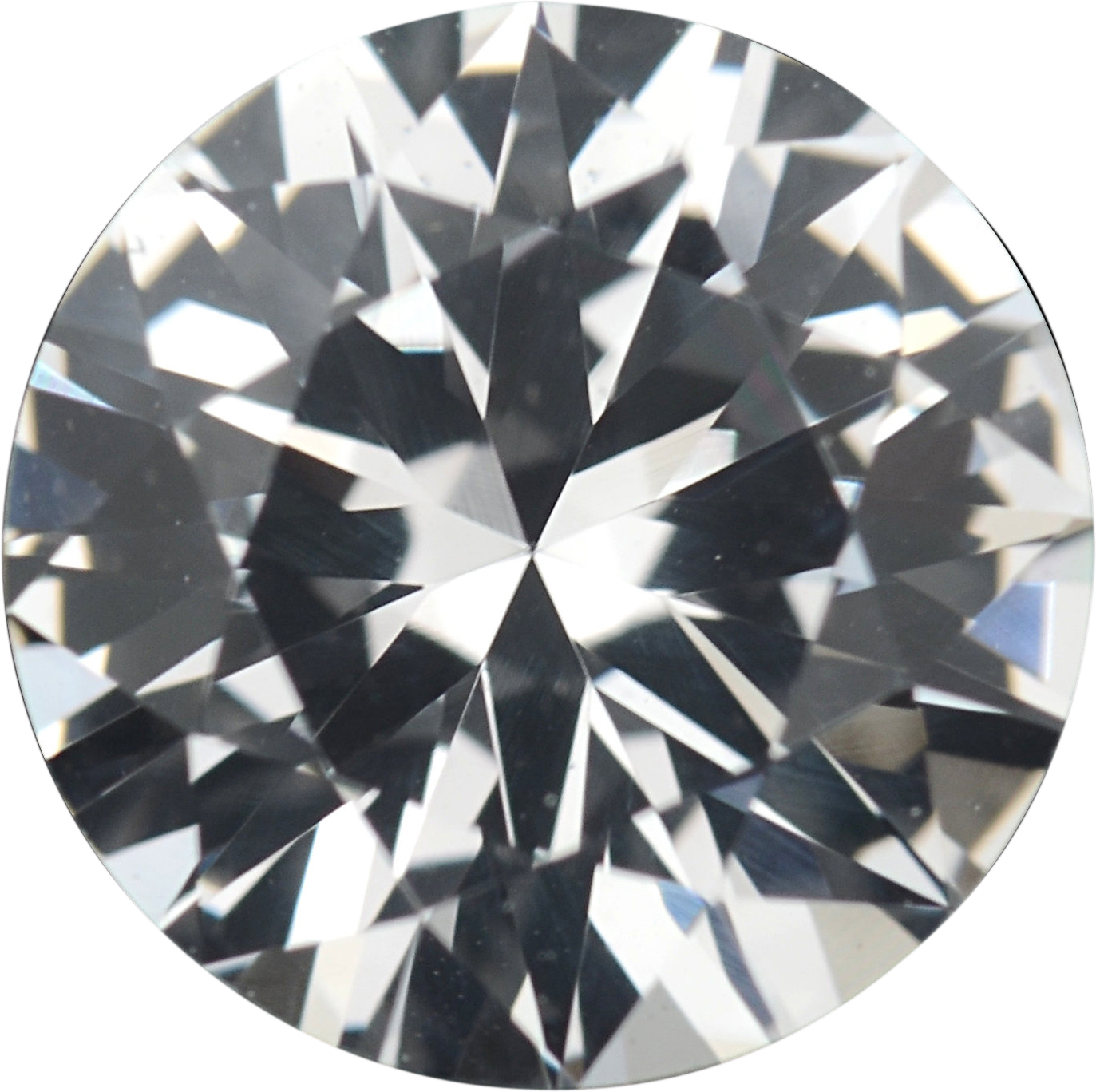 1.38 carats White Loose Sapphire Gemstone in Round Cut, 6.93 mm